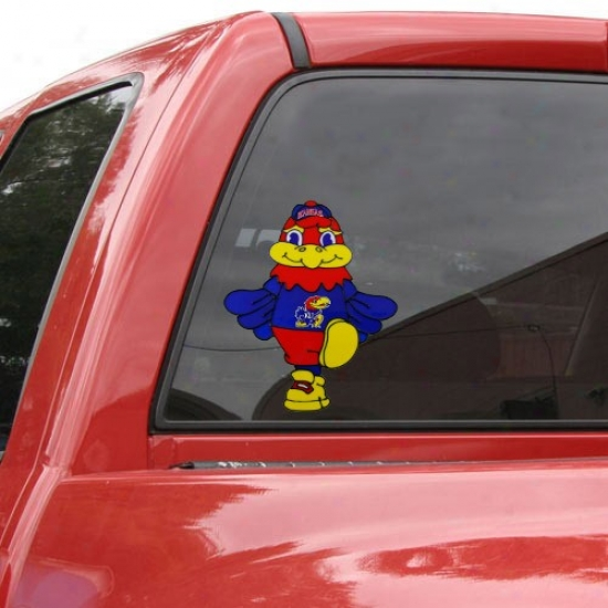 Kansas Jayhawks Team Mascot 12'' Window Cling
