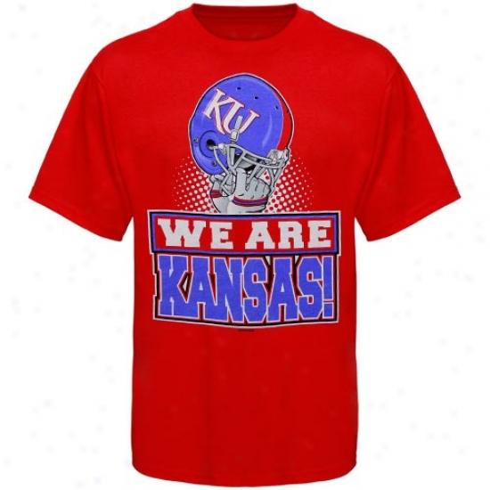 Kansas Jayhawks Tshirt : Kansas Jayhawks Youth Red We Are Tshirt