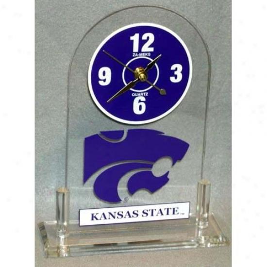 Kansas State Wilccats Desk Clock