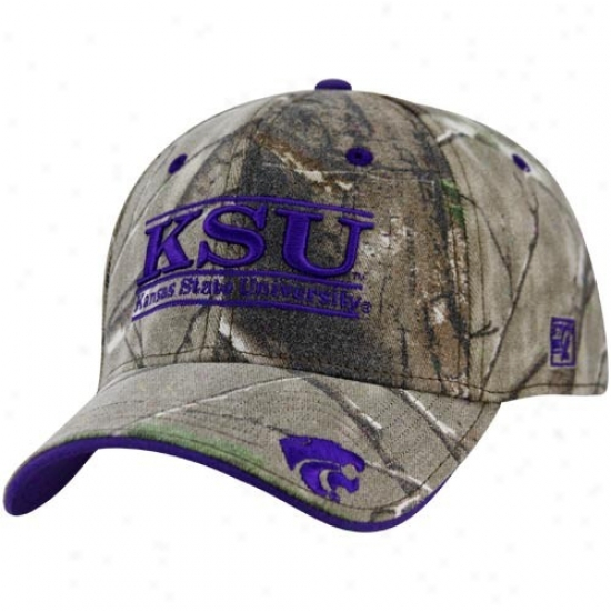 Kansas State Wildcats Merchandise: The Made of ~ Kansas State Wildcats Camo 3-bar Stretch Fit Hat