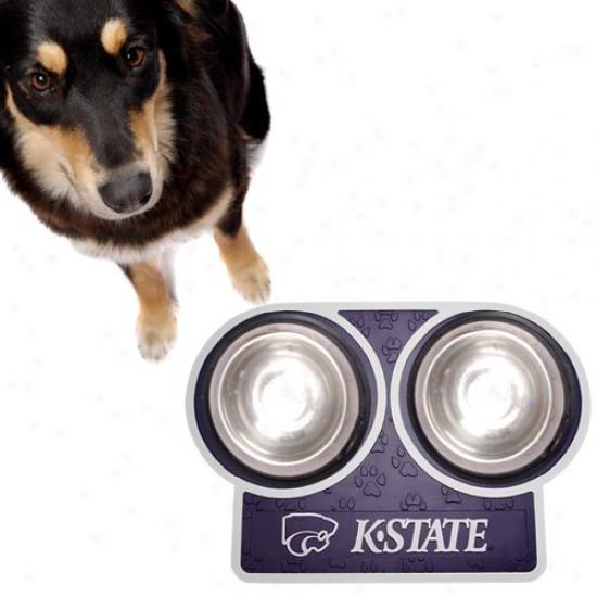 Kansas State Wildcats Purple 23'' X 16'' Pet Place Mat