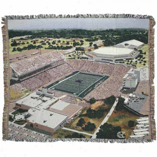 Kansas State Wildcats Stadium Throw Blanket