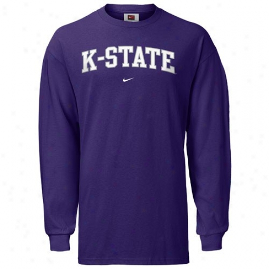 Kansas State Wildcats T-shirt : Nike Kansas State Wildcats Purple Classic College Long Sleeve T-shirt