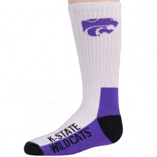 Kansas State Wildcats Youth Tri-color Team Logo Tall Socks