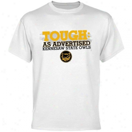 Kennesaw State Owls Shirts : Kennesaw State Owls White Viewed like Advertised Shirs