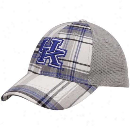 Kentucky Wildcats Caps : Top Of The World Kentucky Wildcats Royal Blue Plaid Mvp Ensnare Back Adjustable Caps