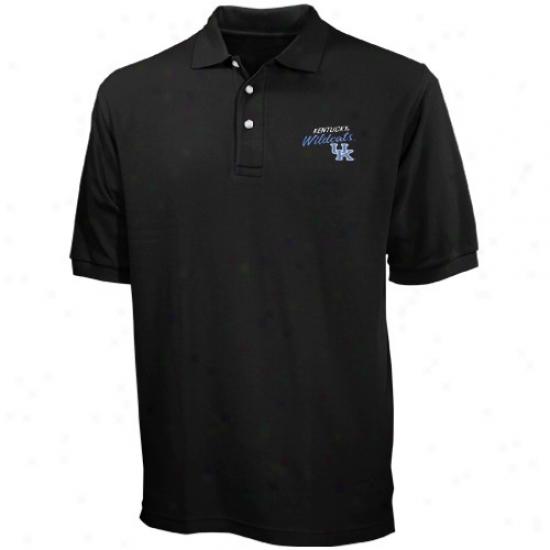 Kentucky Wildcats Clothing: Kentucky Wildcats Black Blazer Logo Pique Polo