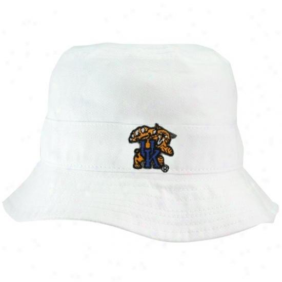 Kentucky Wildcats Hats : Kentucky Wildcats Toddler White Bucket Hats