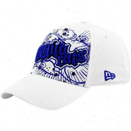 Kentucky Wildcats Hats : New Era Kentucky Wildcats White Burzt 39thirty Stretch Fit Hats
