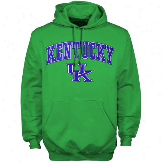 Kentucky Wildcats Hoody : Ken5ucky Wildcats Kelly Green St. Patrick's Day Hoody