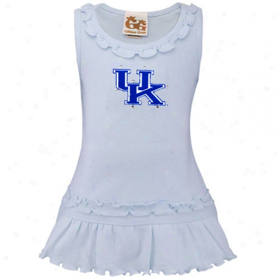 Kentucky Wildcats Innfant Girls Light Blue Swarovski Crystal Ruffle Tank Dress