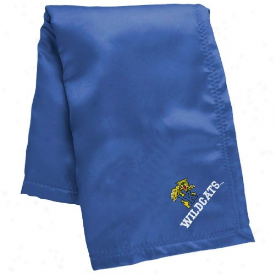 Kentucky Wildcats Infant Royal Blue Silky Baby Blanket