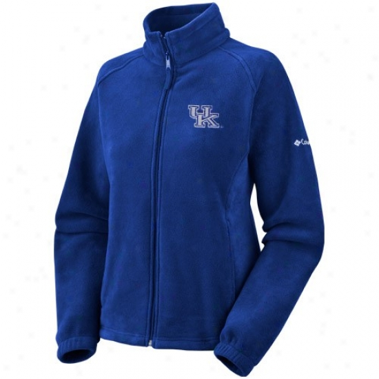 Kentucky Wildcats Jacket : Columiba Kentucky Wildcats Ladies Royal Blue Striker Fill Zip Fleece Jaccket