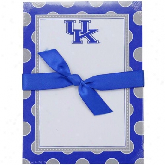Kentucky Wildcats Polka Dot Notepad