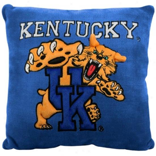 Kentycky Wildcats Royal Pedantic  15'' Square 3d Plusn Pillow