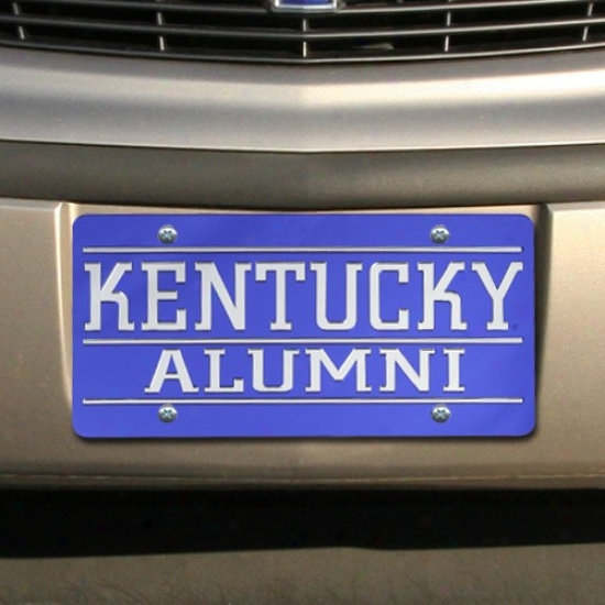 Kentucky Wildcats Royal Blue Mirrored Alumni License Plate