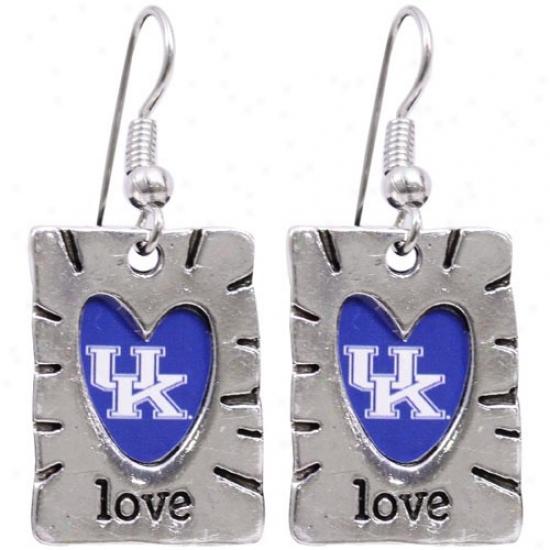Kentucky Wildcats Team Color Live Earrings
