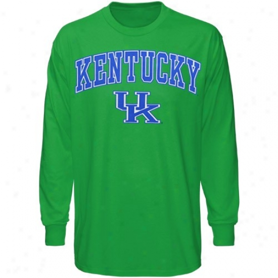 Kentucky Wildcats Tee : Kentucky Wildcats Kelly Green St. Patrick's Day Long Sleeve Tee