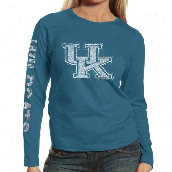 Kentucky Wildcats Tees : Kentucky Wildcats Ladies Royal Blue Taylor Long Sleeve Tees