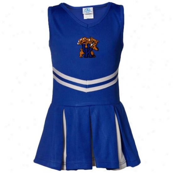 Kentucky Wildcats Toddler Girls Blue 2-piece Cheerleader Dress