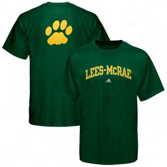 Lees-mcrae Bobcats Tee : Adidas Lees-mcrae Bobcats Green Relentless Tee