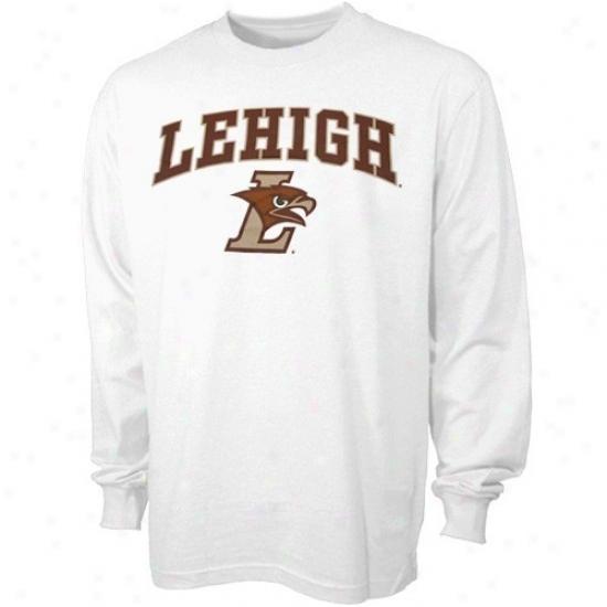 Lehigh Mountain Hawks Attire: Lehigh Mountain Hawks Youth White Bare Essentials Long Sleeve T-short