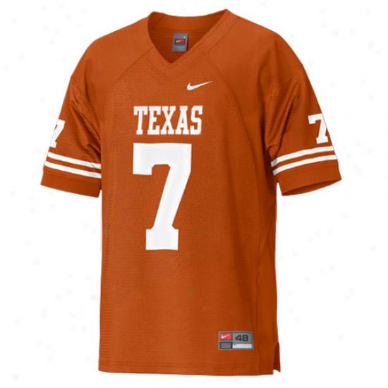 Longhorn  eJrseys : Nike Longhorn  #7 Authentic Football Jerseys - Burnt Orange