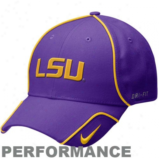 Louisiana State Tiger Merchandise: Nike Louisiana State Tiger Purple 2010 Coaches Performance Adjustable Hat