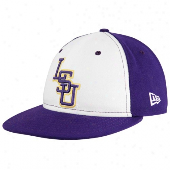 Louisiana State Tiges Hats : New Era Louisiana State Tiges Pur0le On-field 59fifty Fitted Hats