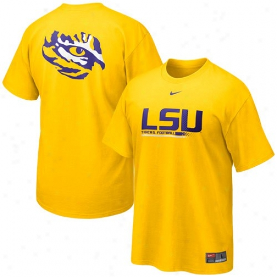 Louisiana State Tiges T-shirt : Nike Louisiana State Tihes Gold 2010 Practice T-shirt