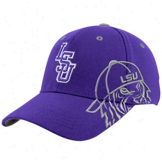 Louisiana State University Gear: Top Of The World Louisiana State University Purple Bootleg One-fit Haf