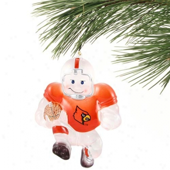 Louisville Cardinals Acrylic Holiday Ornament