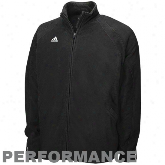 Louisville Cardinals Fleecw : Adidas Louisville Cardinals Black Big Game Microfleece Full Zip Performance Jacket