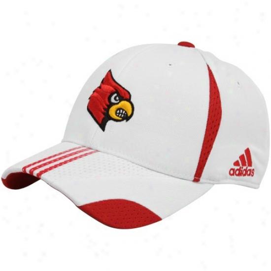 Louisville Cardinals Cardinal's office : Adidas Louisville Cardinals White 2010 Players Performance Flex Fit Hat