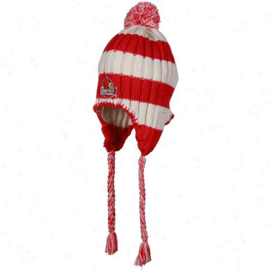 Louisville Cardinals Hats : Louisville Cardinals Red Alpine Knit Beanie