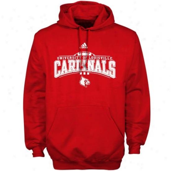Louisville Cardinals Hoodys : Adidas Louisville Cardinals Red Quick Slant Hoodys