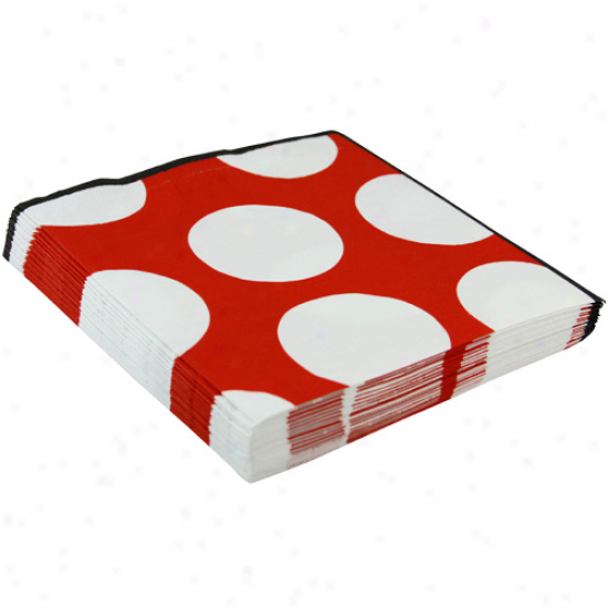 Louisville Cardinals Polka Dot Luncheon Napkins