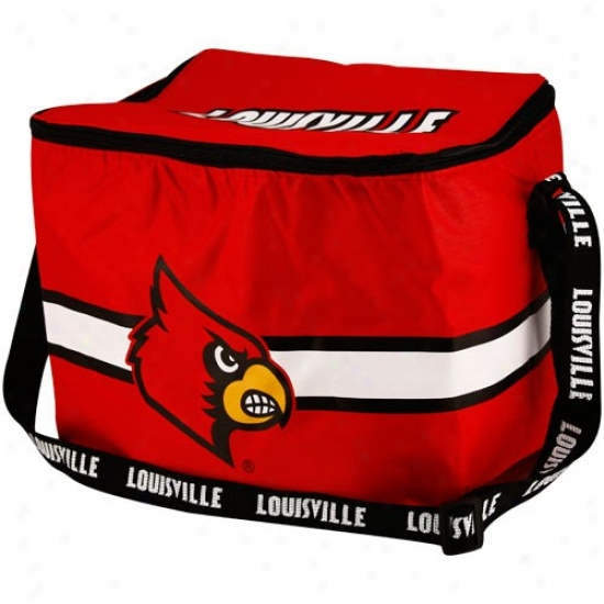 Louisville Cardinals Red Insulated 12-pack Cooler
