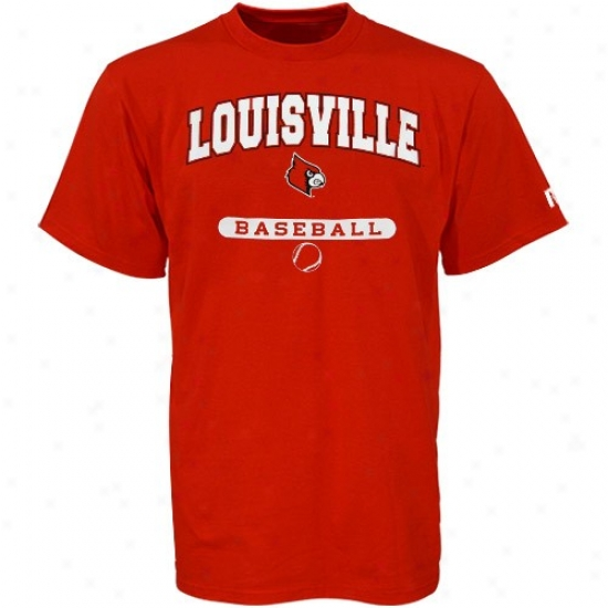 Louisville Cardinals Shirt : Russell Louisville Cardinals Red Baseball Shirt