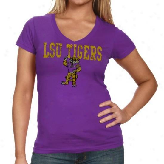Lsu Apparel: Lsu Ladies Purple Quake T-shirt