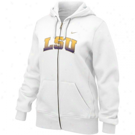 Lsu Sweat Shirt : Nike Lsu Ladies White Seasonal Complete Zip Sweat Shirt