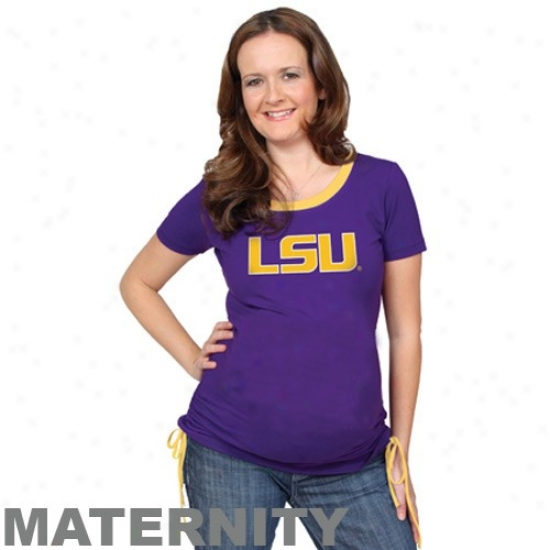 Lsu Tiger  Attire: Lsu Tiger  Ladies Purple Team Logo Matenrity T-shirt