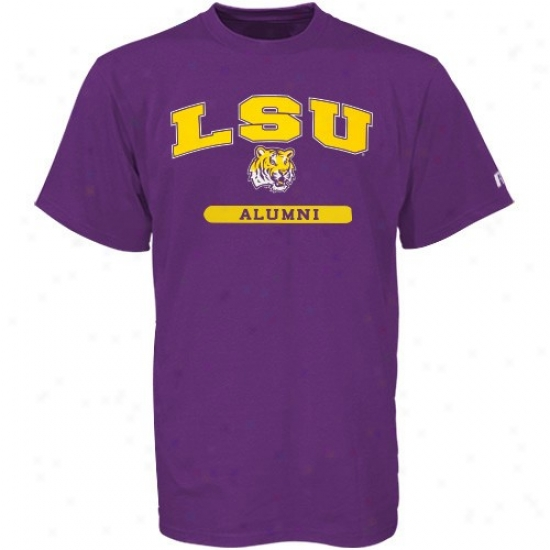Lsu Tiger  Attire: Russell Lsu Tiger  Purple Alumni T-shirt
