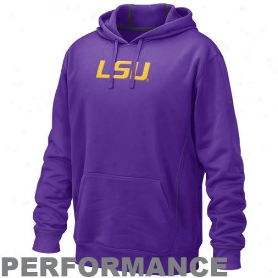 Lsu Tiger  Hoodie : Nike Lsu Tiger  Purple Bluebook Performance Hoodie