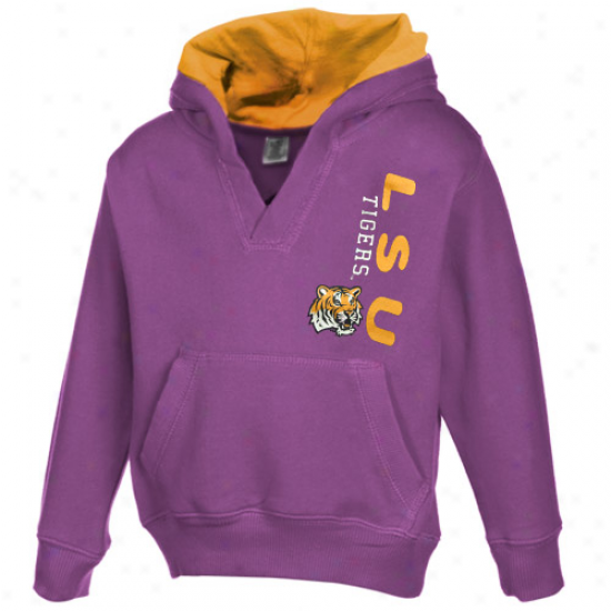 Lsu Tiers Flecee : Lsu Tigers Toddler Girls Purple Rush V-neck Fleece Fleece