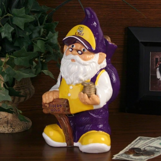 Lsu Tigers Gnome Bank