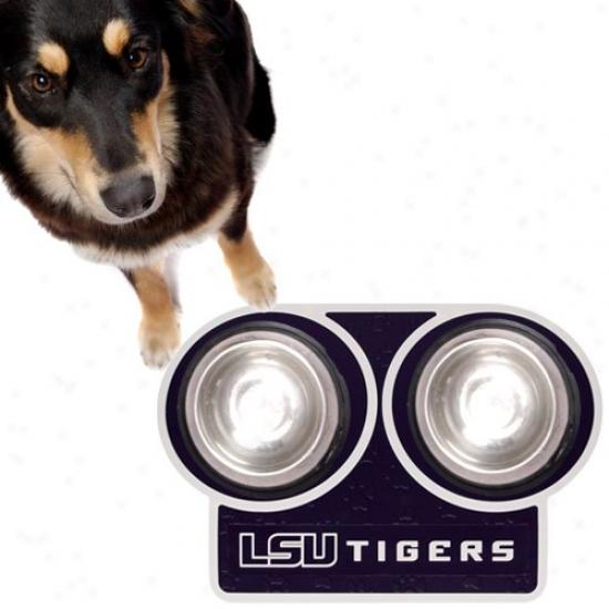 Lsu Tigers Purple 23'' X 16'' Pet Place Mat