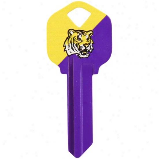 Lsu Tigers Purple-gold House Key