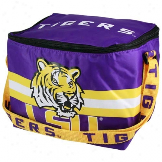 Lsu Tigers Purple Insulated Lunch Bag