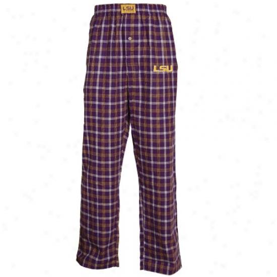 Lsu Tigers Purple Plaid Tailgaate Pajama Pants